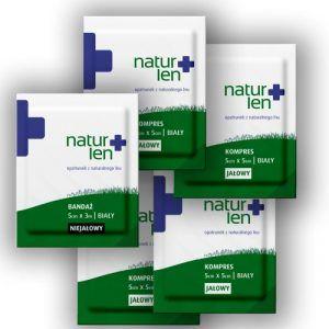 Pakiet na 14 dni leczenia kompresy lniane jałowe 5 x 5 cm białe 14 szt. bandaż 5 cm x 3 m biały 5 szt.